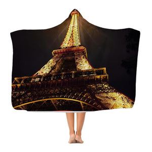 Paris Classic Adult Hooded Blanket-Apparel-Hearts and Gifts