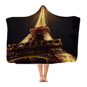 Paris Premium Adult Hooded Blanket-Apparel-Hearts and Gifts