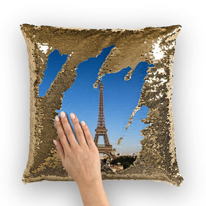 Paris Sequin Cushion Cover-Homeware-Hearts and Gifts