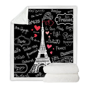 Paris Throw Fleece Blanket-Hearts and Gifts