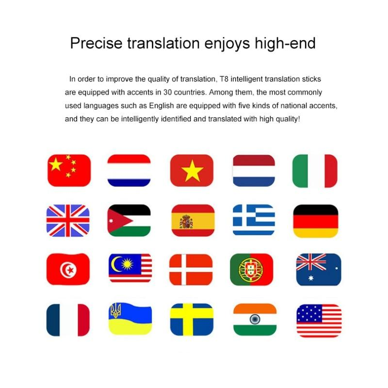 Portable Smart Voice Speech Translator Two-Way Real Time 30 Multi-Language Translation For Learning Travelling Business Meeting-Hearts and Gifts