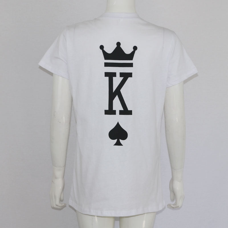 King Queen Cards Couples T Shirt