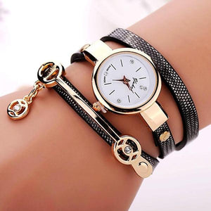 Rose Gold Charm Wrap Watch-watch-Hearts and Gifts