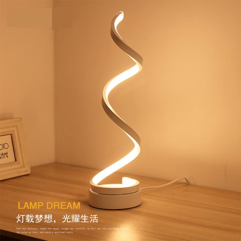 Spiral Modern Desk Light-home-Hearts and Gifts