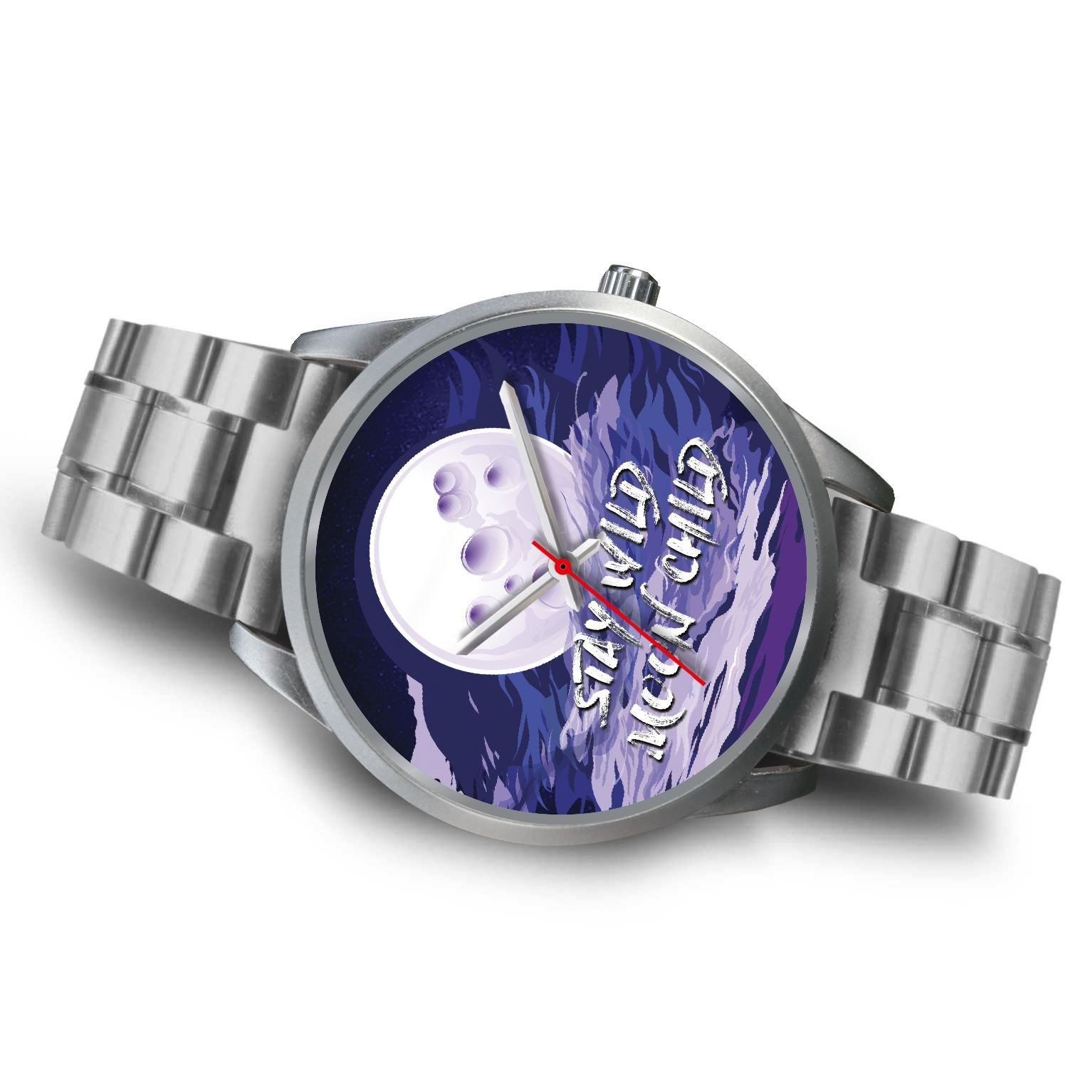 Stay Wild Moon Child Watch-Silver Watch-Hearts and Gifts