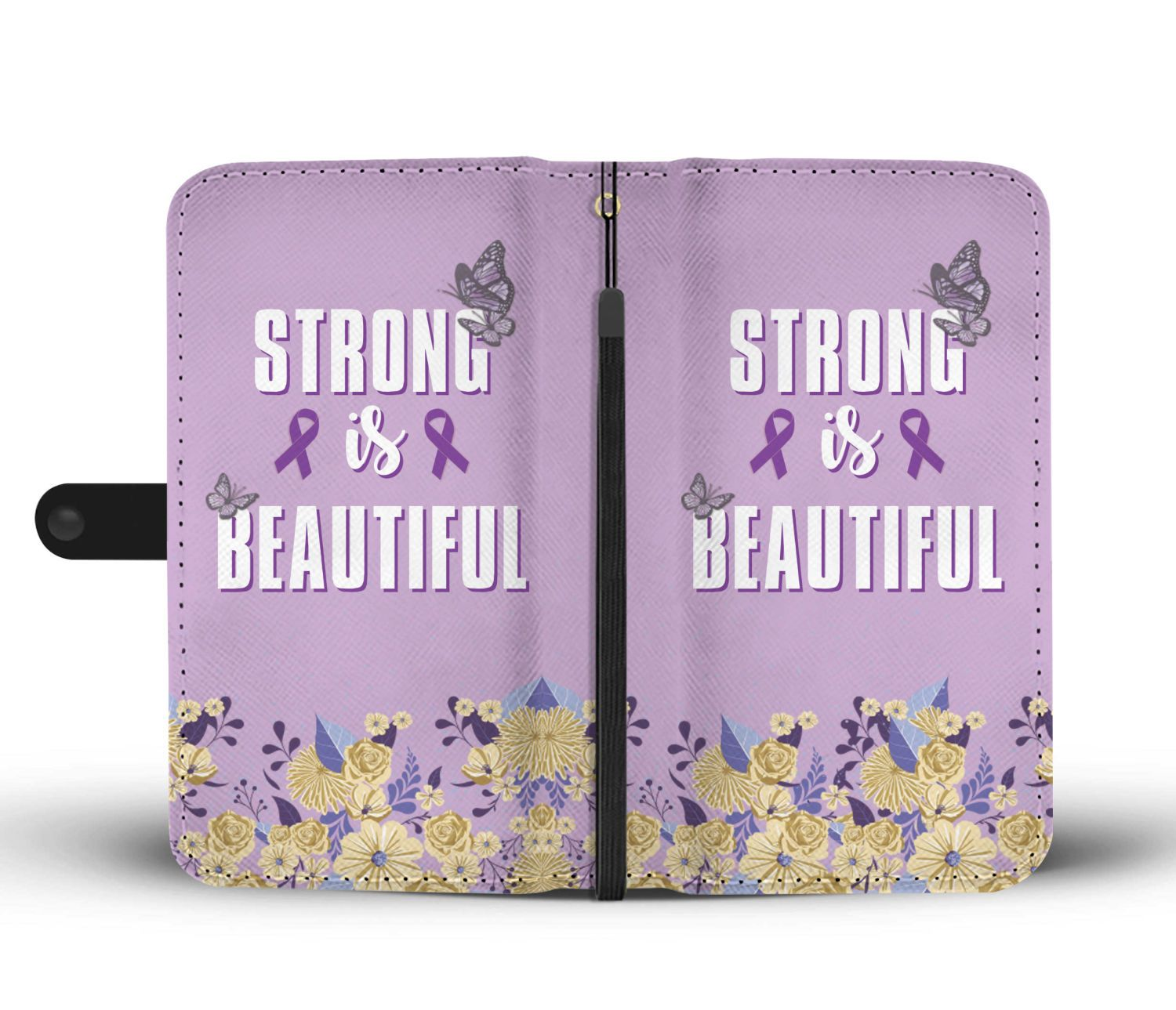 Strong Is Beautiful Phone Wallet Case-Wallet Case-Hearts and Gifts