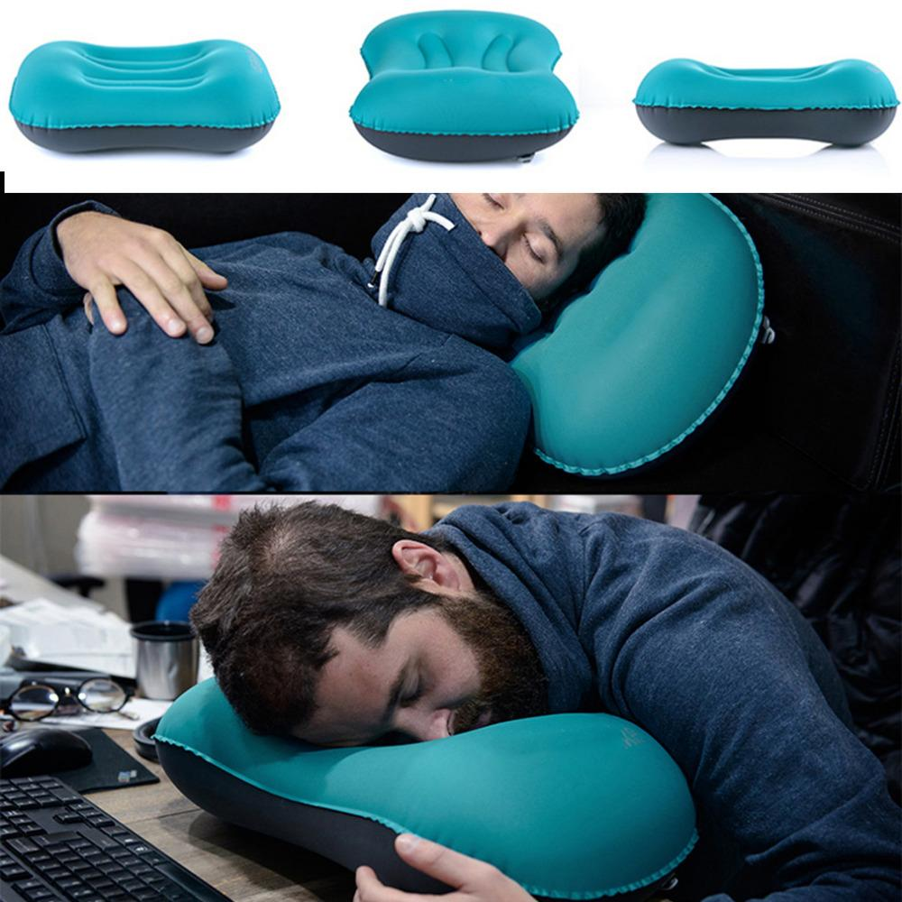 TINY INFLATABLE TRAVEL PILLOW-Home-Hearts and Gifts