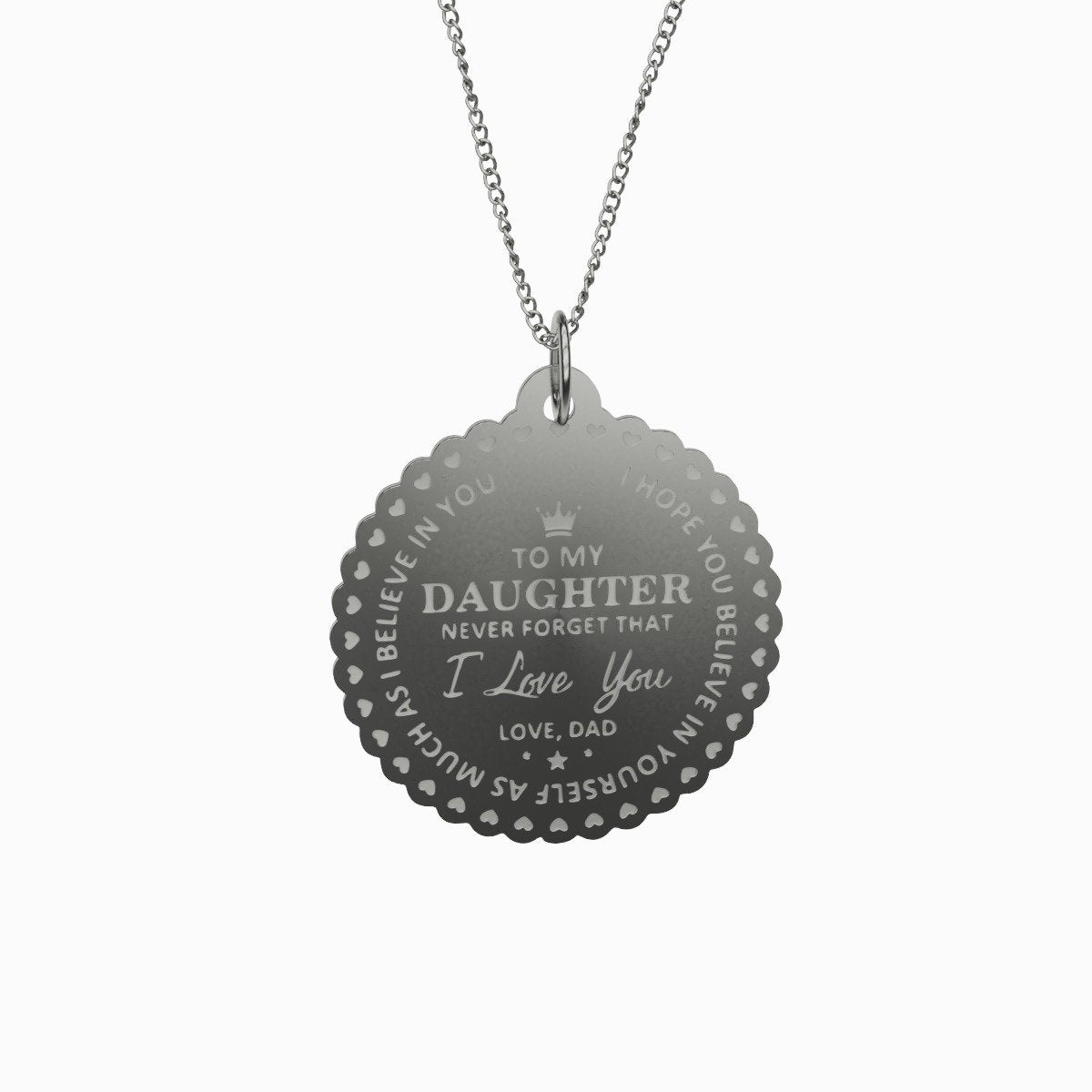 To My Daughter With Love-pendant-Hearts and Gifts