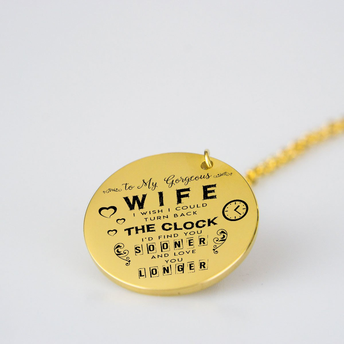To My Gorgeous Wife-pendant-Hearts and Gifts