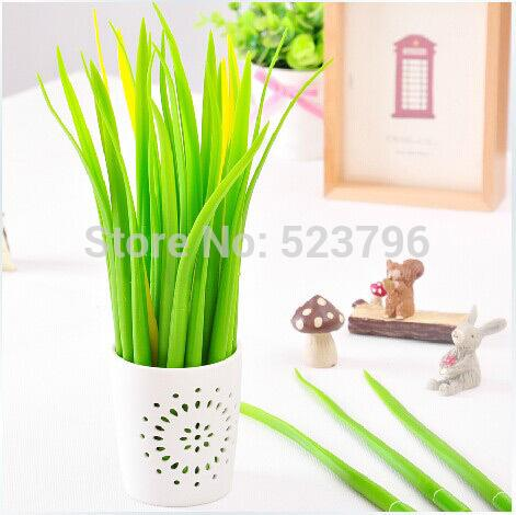Wholesale 12pcs/lot Newest Gift idea Grass-blade pen pooleaf ballpoint pen small fresh Grass blade pen-Hearts and Gifts