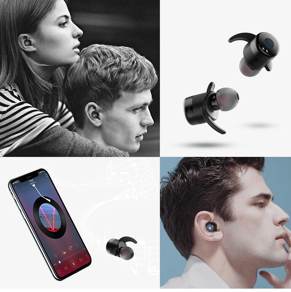 Wonstart Mini Wireless Bluetooth Headphones with 500mah recharging battery TWS twins earphone earbuds Bluetooth headset W302RD-Hearts and Gifts