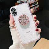 DIY Fur Ball & Crystal Bracket Strap Diamond Phone Case