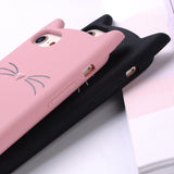 Cute 3D Silicone Cartoon Cat Phone Case
