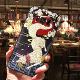 Cartoon 3D Emboss Silicone Phone Cases