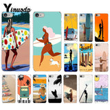 Surfboard Surfing Art Surf Girl Phone Cover for iPhone