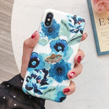 Diamond Ring Holder Flower Case For iPhone