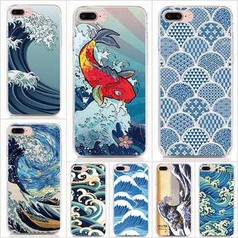 Wave Art Japanese Protective Phone Cases