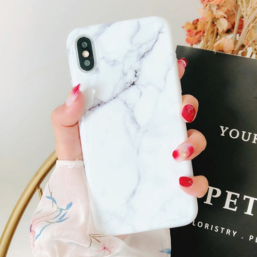 Geometric Pattern Marble Phone Case For iphone