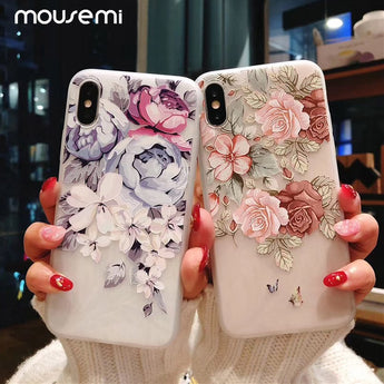 Luxury 3D Shockproof Flower Phone Case