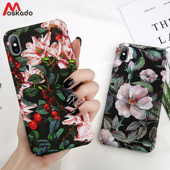 Green Leaves Vintage Flower Phone Case