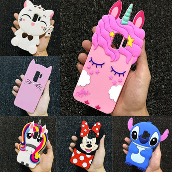 3D Cartoon Soft Silicone Phone Cases