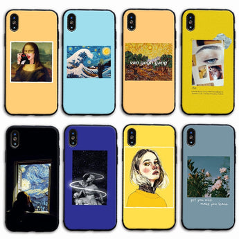 Aesthetic Mona Lisa Painting TPU Phone Case for iPhone
