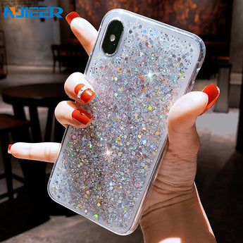 Bling Sequins Girl Phone Case For iPhones