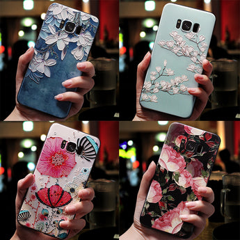 3D Flower Emboss Phone Case