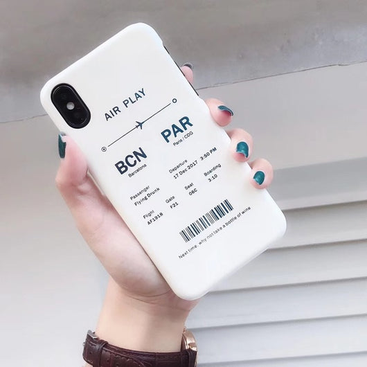 Retro Air ticket Phone Case For iPhone