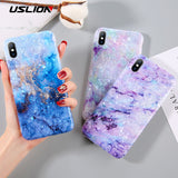 Glitter Marble Phone Case For iPhone
