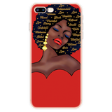Melanated Women Art Silicone Cases for iPhones
