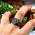 Rog Viking Celtic Solar Symbol Wheel Amulet Ring