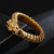 Matte Metal Dragon Head Bangle Bracelet