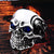 Red/Blue Eye Gothic Carving Kapala Skull Ring
