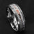 Silver Meteorite RoseGold Arrow Tungsten Ring