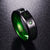 Carbon Fiber Green Zircon Tungsten Carbide Ring