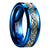 Rog Celtic Dragon Tungsten Carbide Carbon Fiber Ring