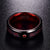 Rog 8MM Wide Dragon Red Tungsten Ring