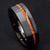 Rog Black Tungsten Carbide Koa Wood Ring