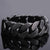 Vintage 24MM Wide Black Stainless Steel Bracelet