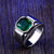 Ancient Green Blue Stone High Classy Ring