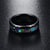 Abalone Shell Black Tungsten Carbide Ring