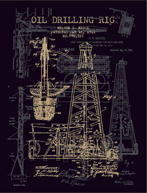 Black Gold Rig Schematic (Dark Heather Grey)