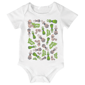 Worm Wear Mash-up Onesie