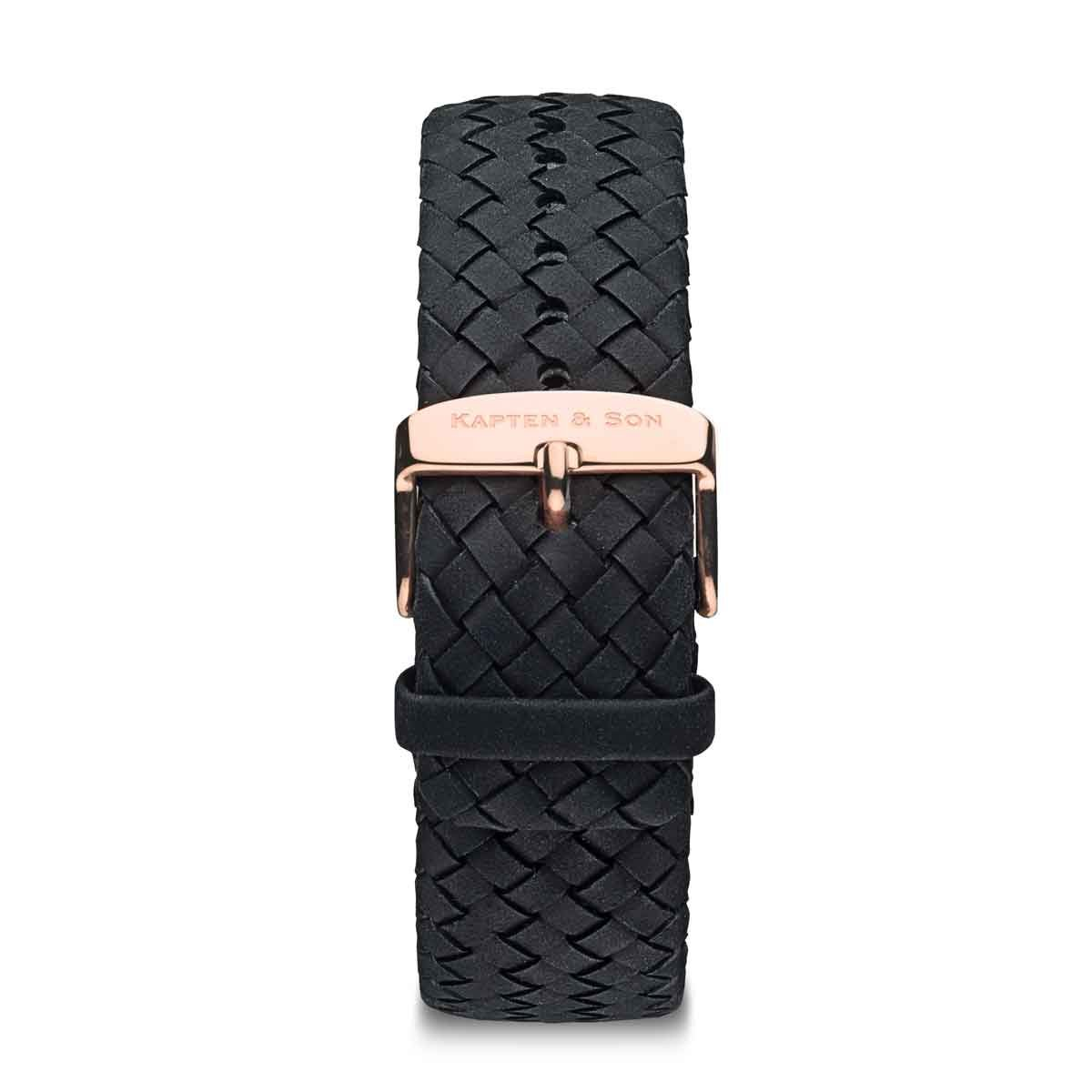 Black Woven Leather Strap
