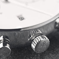 "Chrono Small Silver ""Sand Woven Leather"""