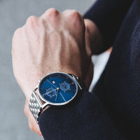 "Chrono Silver ""Blue Steel"""
