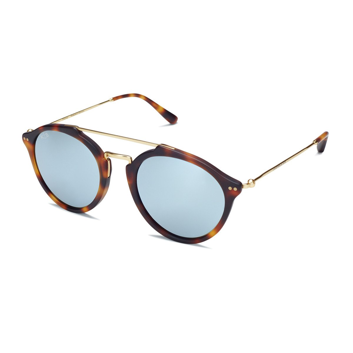 Fitzroy Matt Tortoise Blue Mirrored