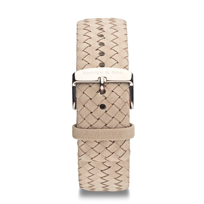 Sand Woven Leather Strap