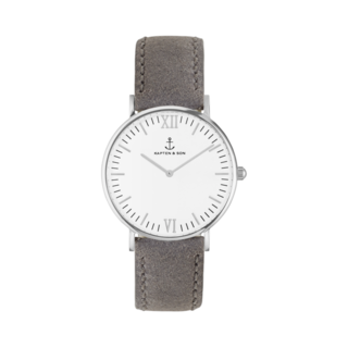 "Campus Silver ""Grey Vintage Leather"""
